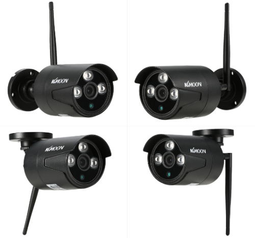KKmoon 4CH 1080P HD WiFi NVR IP Camera Kit