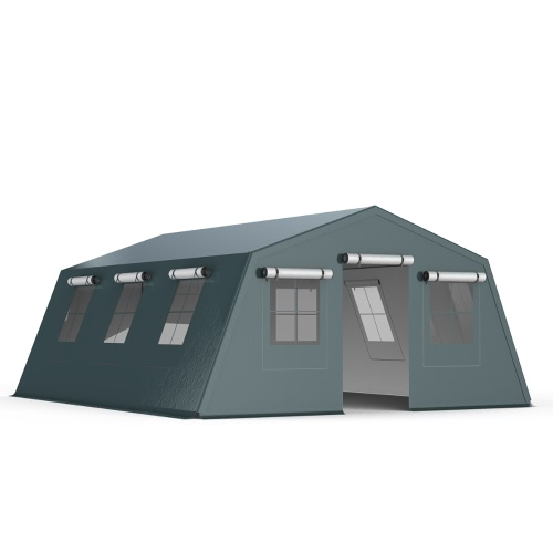 Tente Explorateur isolation double paroi 5x6.24m PVC 750g/m²