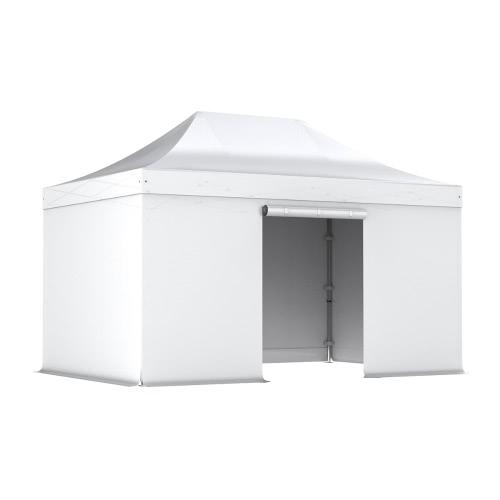 Barnum pliant 3x4.5m Pack complet Alu 40 polyester 300g/m² pelliculé PVC