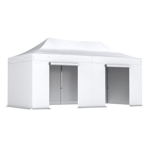Tente pliante 3x6m Pack complet Acier 32mm Polyester 300g/m²