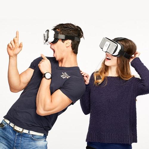 DeePoon V3 Virtual Reality óculos Headset Head-Mounted 3D VR óculos 3D filme jogo Universal para iPhone Samsung / 4.7 todos para 5,7 polegadas Android iOS Smart Phones