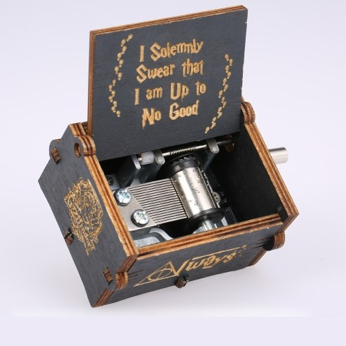 Vintage Wooden Harry Potter Theme Song Music Box Black