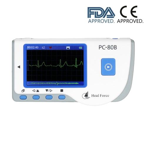 Heal Force PC-80B profesional Fácil de ECG del monitor de ECG Monitoreo de la máquina LCD monitor de corazón de Salud Fácil de mano portátil USB función de medición continua