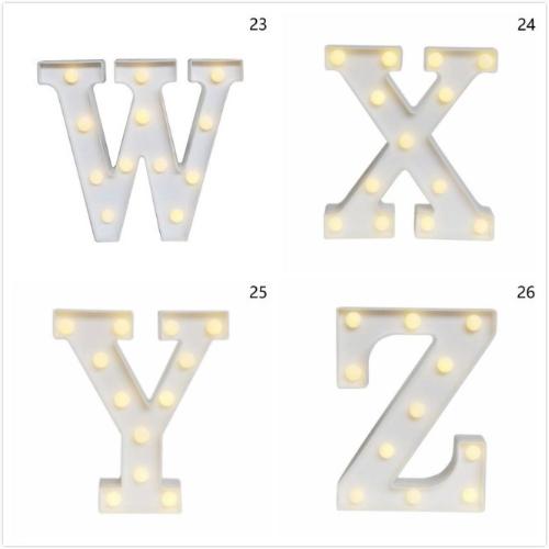 Letter Z Wooden 26 Letter Alphabet Night LED Lamp Grow Light