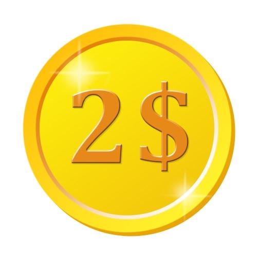 2 $ pour le remplissage de la différence de prix