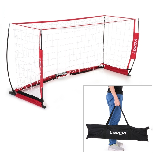 Lixada Soccer Goal 6.6*3.3ft Detachable Portable Soccer Net Sturdy Frame Fiberglass Pole for Playground Backyard Training