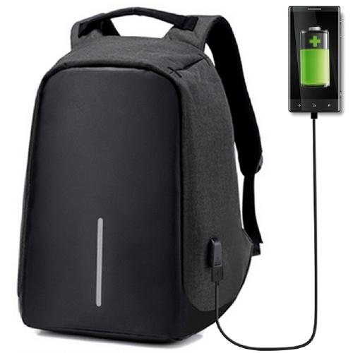 Mochila de viaje portátil antirrobo con puerto de carga de enchufe USB