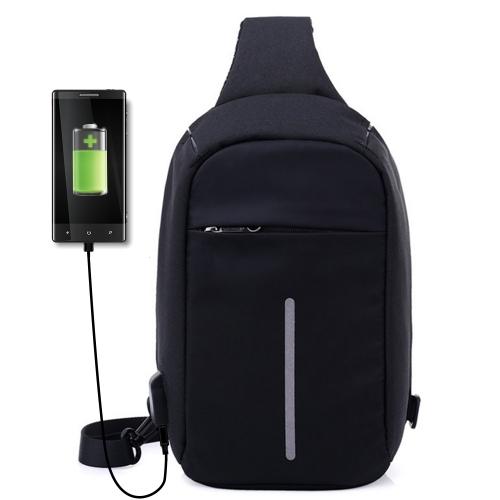 USB Anti-robo paquete de pecho europeos y americanos estilo de la bolsa de hombro