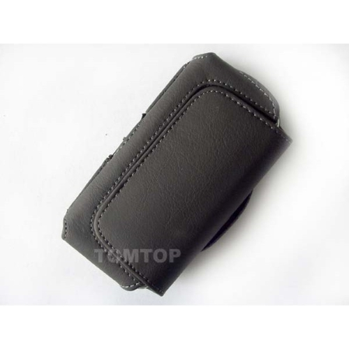 BLACK LEATHER BELT CLIP CASE COVER for Nokia