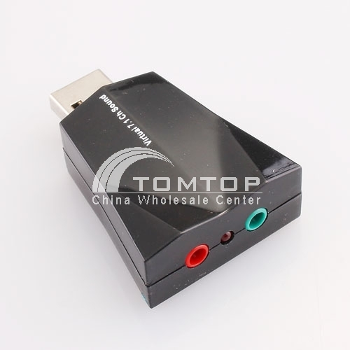 Virtual 7.1 channel USB sound adapter