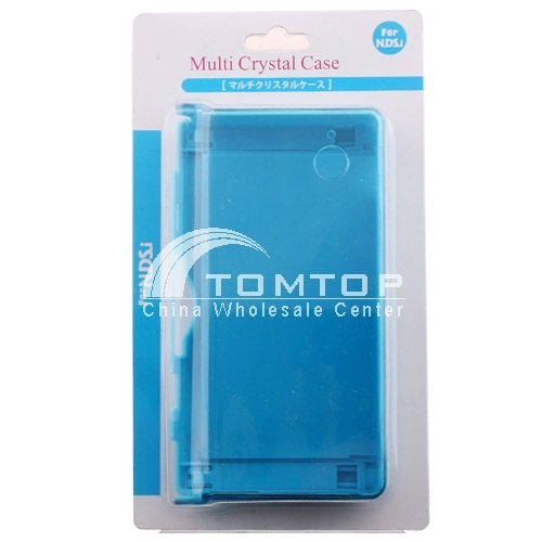 Clear Crystal Hard Case Cover for Nintendo DSi NDSi- Blue
