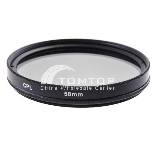 58mm CPL Filter For Digital Camera Camcorder SLR
