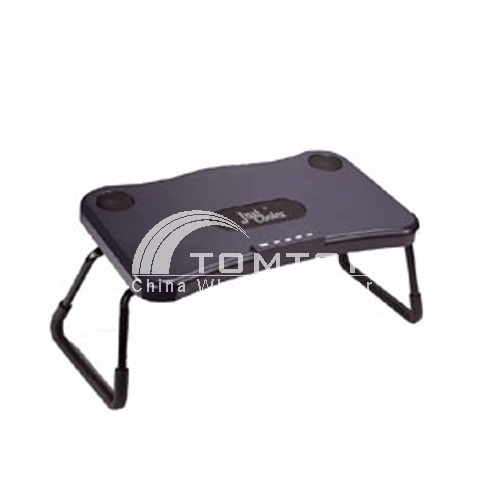USB Notebook Cooling Foldable legs Desk with 2.1 Stereo Speakers
