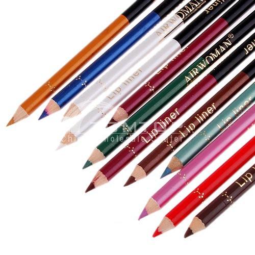 12 Double Ended Eyeliner + Lips eye Liner Pencils with Sharpener