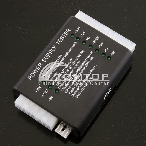 PC 20/24 Pin PSU ATX SATA HD Power Supply Tester