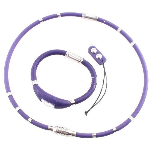 3-in-1 Titanium Ge Magenet  Pressure Reduction Neck-loop set