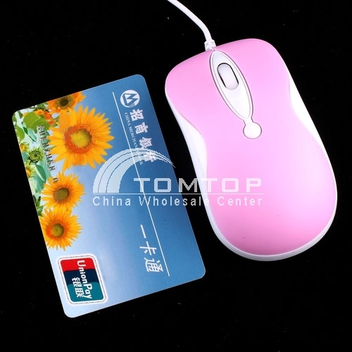 800/1600dpi JetTech-2019 Petite USB Optical Mouse -- Pink