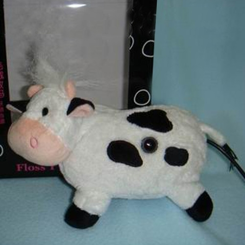 Cartoon USB PC Laptop Web Camera With Microphone - Cattle Shape