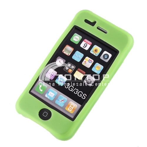 Green Silicon Silicone Skin Case for iPhone 3G/3GS