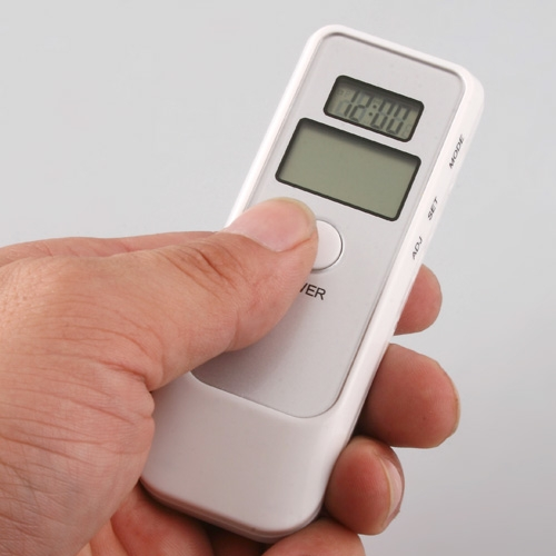 Digital alcohol tester with LCD clock