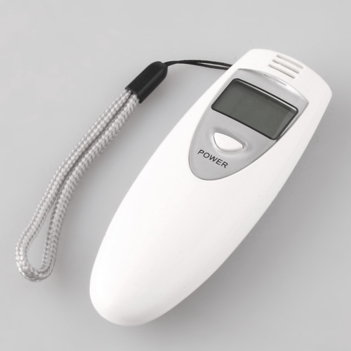 alcohol breath tester white