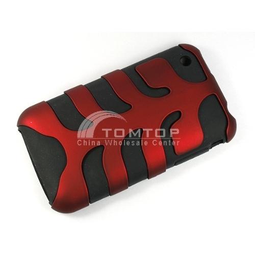 Brand New Unique fish bone silicone case for iphone 3G PA113-RD