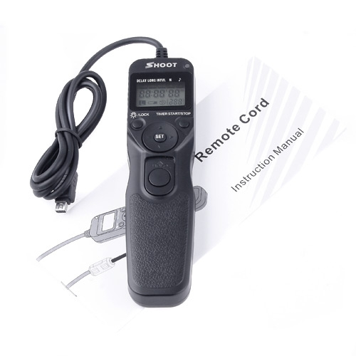 LCD Timer Remote Cord Shutter Release for Olympus