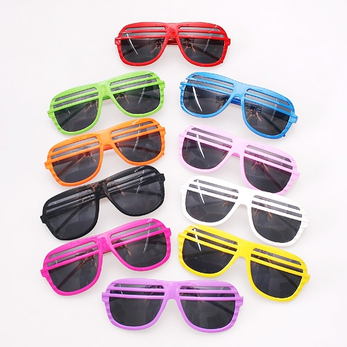 10 pcs cool Fashion Anti-UV Shutter Sunglasses Shades