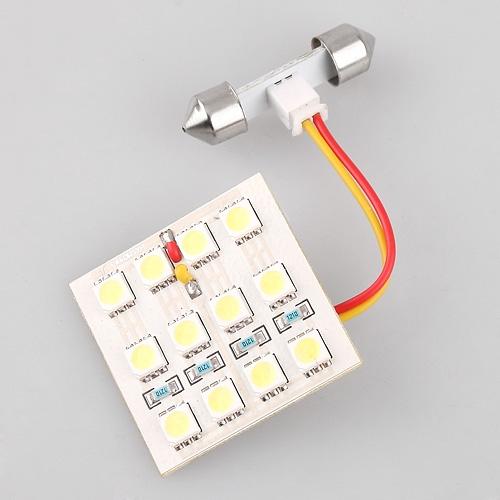 Car Auto 12 LED SMD 5050 Dome Door Box Panel Light Lamp White