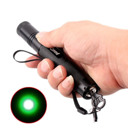 Focusable 150mW 532nm Green Laser Pointer Flashlight Torch with Safety Key Lock