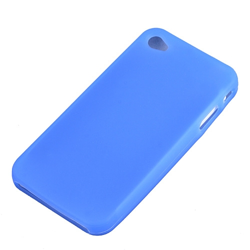 Blue Silicone Rubber Case Cover For Apple iPhone 4 4G OS 4th