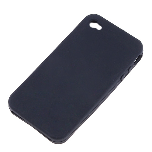 Black Back Cover Silicon Case For iPhone 4 4G