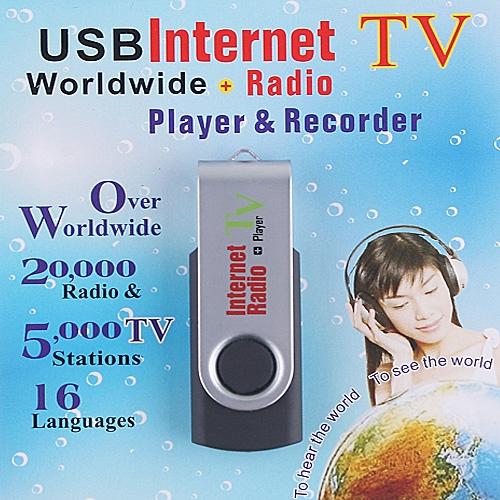 USB Worldwide Internet TV Radio Player and Recorder
