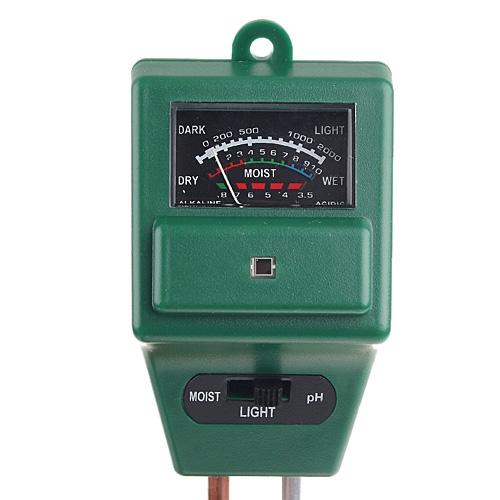 3-in-1 Garden Soil Moisture Tester Light Luxmeter & PH Meter