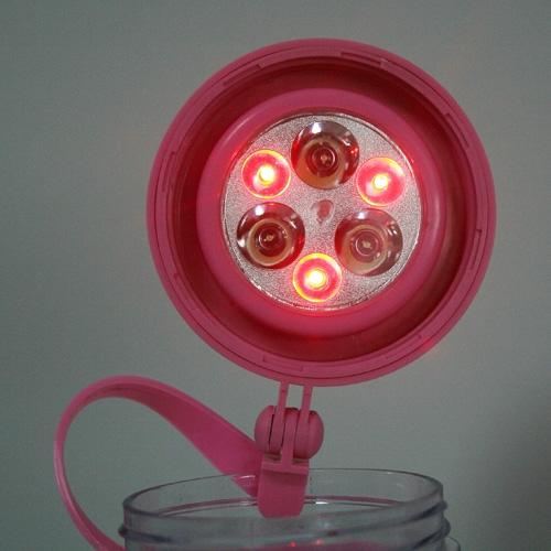 Multifunctional Waterproof Solar FlashLight Cup 3 LEDs  Warning Lights