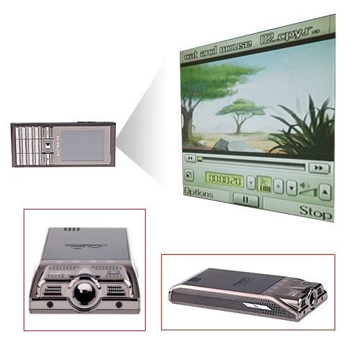 Q8GSM/GPRS Projector Mobile Phone TV+FM+JAVA  Dual Stand-by Dual Sim Card