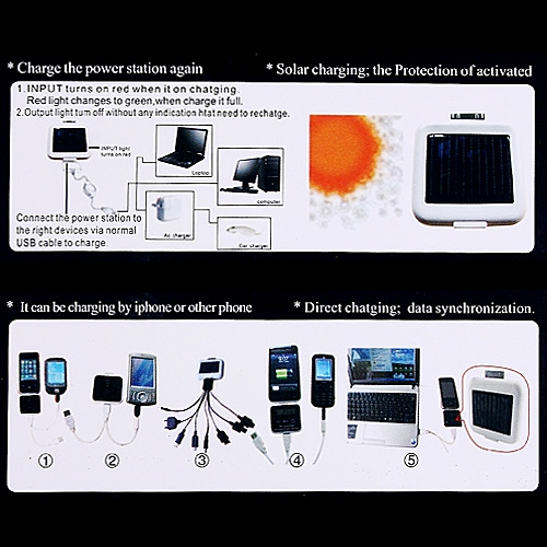 Universal Solar Charger for iPhone 3G/3Gs/4G