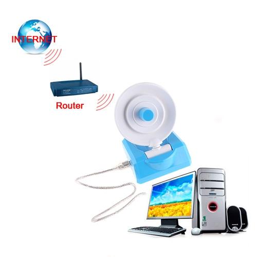 Wireless 2.4-2.484GHz USB WiFi Adapter 54M 8dBi Antenna