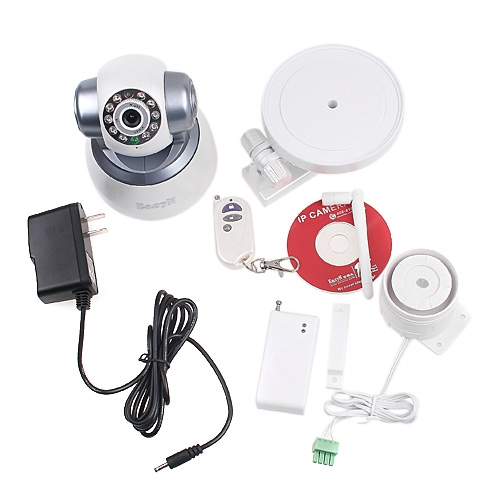 EasyN Wireless WiFi IP Camera IR + Alarm Equipment PC/iPhone/iPad/3G Mobile