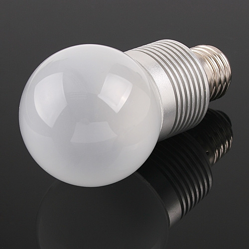 G60 3*1W LEDs Light Screw Bulb E27 Natural White 190LM