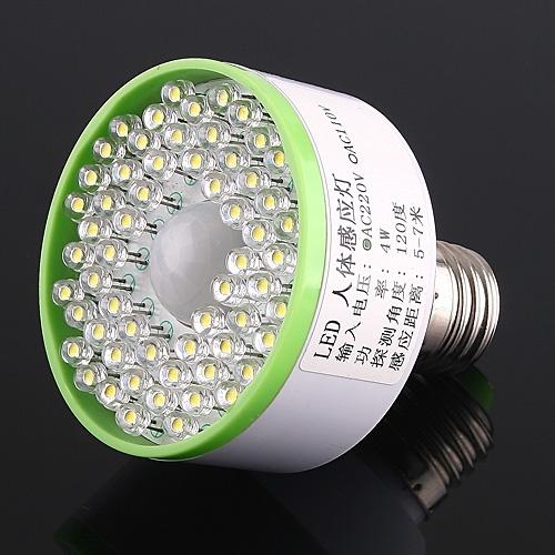 220V AC Ultra Bright 60 LED Licht-Schrauben-E27 Auto IR-Sensor