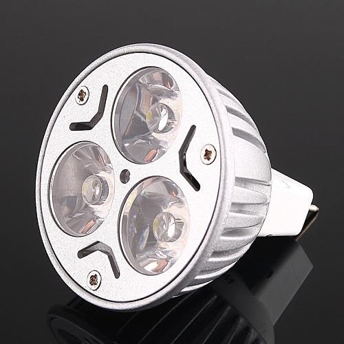 Bright 3*1W LEDs Light Bulb MR16 Cold White 150LM