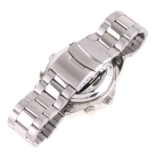 4GB WaterProof Spy Wrist Watch HD Hidden Camera DV Silver