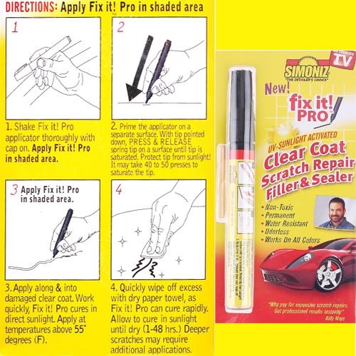 Auto Car Body Scratch Repair Pen Filler Sealer Clear Coat