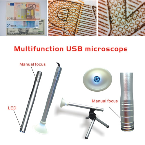 Mini USB Digital Microscope Endoscope Otoscope LED 2MP