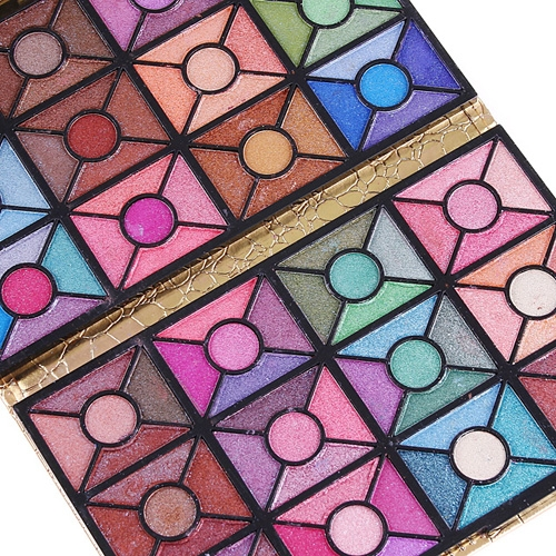 120 Full Color Eye Shadow Blusher Palette with Makeup Bag
