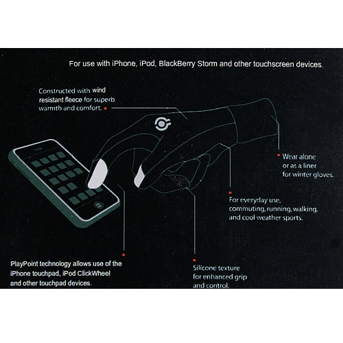 Gloves for Touch Screen Devices iPhone/iPad/HTC Gray L