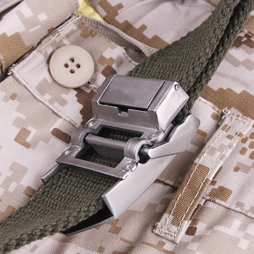 Military Outdoor Casual Canvas Unisex Belt Army Green 38