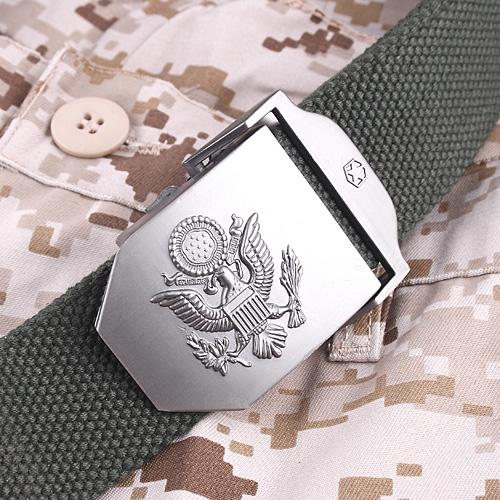 Military Police Casual Canvas Unisex Belt Army Green 38