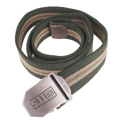 Military Police Canvas Stripe Unisex Belt Army Green 40
